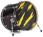 "Vinyl Decal Skin Wrap for 22"" Bass Kick Drum Head Jagged Camo Yellow - DRUM HEAD NOT INCLUDED"