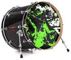 "Vinyl Decal Skin Wrap for 22"" Bass Kick Drum Head Baja 0003 Neon Green - DRUM HEAD NOT INCLUDED"