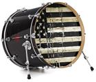 "Vinyl Decal Skin Wrap for 22"" Bass Kick Drum Head Painted Faded and Cracked Black and White USA American Flag - DRUM HEAD NOT INCLUDED"