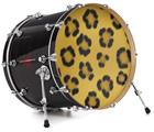 "Vinyl Decal Skin Wrap for 22"" Bass Kick Drum Head Leopard Skin - DRUM HEAD NOT INCLUDED"