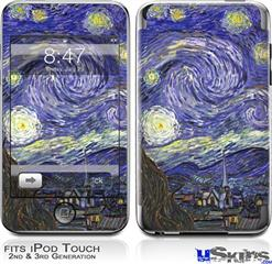iPod Touch 2G & 3G Skin - Vincent Van Gogh Starry Night