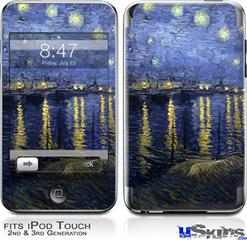 iPod Touch 2G & 3G Skin - Vincent Van Gogh Starry Night Over The Rhone