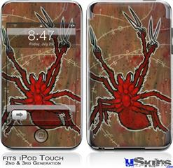 iPod Touch 2G & 3G Skin - Weaving Spiders