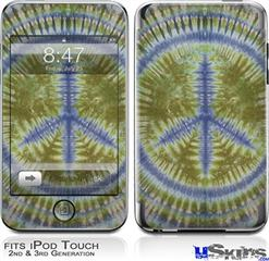iPod Touch 2G & 3G Skin - Tie Dye Peace Sign 102