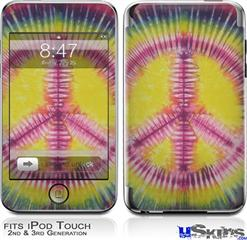 iPod Touch 2G & 3G Skin - Tie Dye Peace Sign 104