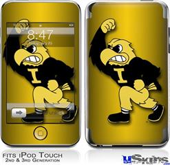 iPod Touch 2G & 3G Skin - Iowa Hawkeyes Herky on Black and Gold