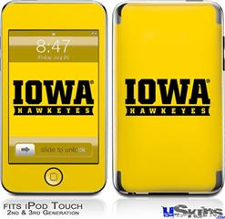 iPod Touch 2G & 3G Skin - Iowa Hawkeyes 03 Gold on Black