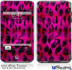 iPod Touch 2G & 3G Skin - Pink Distressed Leopard