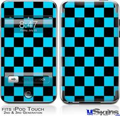 iPod Touch 2G & 3G Skin - Checkers Blue