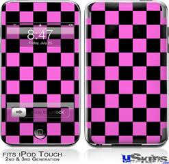 iPod Touch 2G & 3G Skin - Checkers Pink