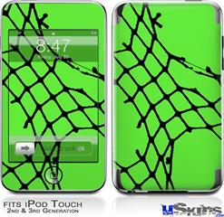 iPod Touch 2G & 3G Skin - Ripped Fishnets Green