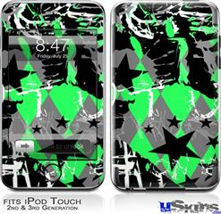 iPod Touch 2G & 3G Skin - SceneKid Green