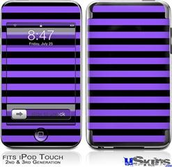 iPod Touch 2G & 3G Skin - Stripes Purple