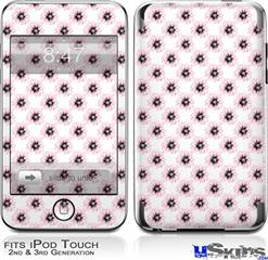 iPod Touch 2G & 3G Skin - Kearas Daisies Diffuse Glow Pink