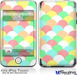 iPod Touch 2G & 3G Skin - Brushed Cirlces Multi Light