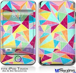iPod Touch 2G & 3G Skin - Brushed Geometric