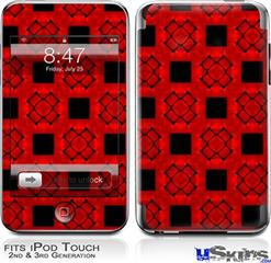 iPod Touch 2G & 3G Skin - Criss Cross Red