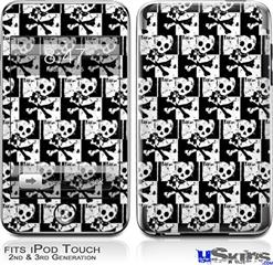 iPod Touch 2G & 3G Skin - Skull Checker