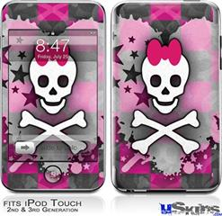 iPod Touch 2G & 3G Skin - Princess Skull Heart
