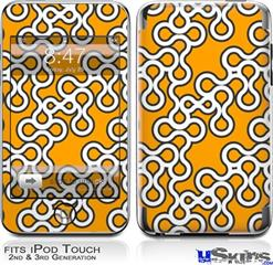 iPod Touch 2G & 3G Skin - Locknodes 03 Orange