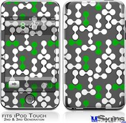 iPod Touch 2G & 3G Skin - Locknodes 04 Green