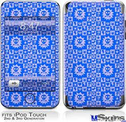 iPod Touch 2G & 3G Skin - Gothic Punk Pattern Blue
