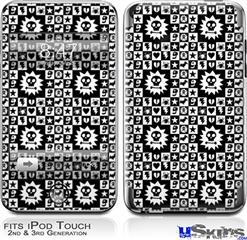 iPod Touch 2G & 3G Skin - Gothic Punk Pattern