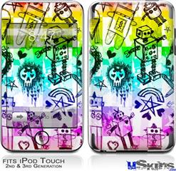 iPod Touch 2G & 3G Skin - Scene Kid Sketches Rainbow