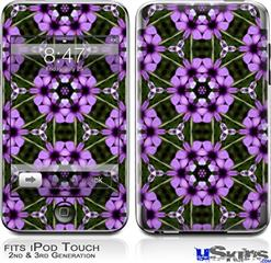 iPod Touch 2G & 3G Skin - Floral Pattern Purple