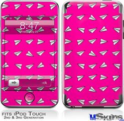 iPod Touch 2G & 3G Skin - Paper Planes Hot Pink