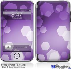 iPod Touch 2G & 3G Skin - Bokeh Hex Purple