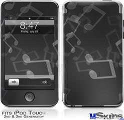 iPod Touch 2G & 3G Skin - Bokeh Music Grey