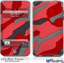 iPod Touch 2G & 3G Skin - Camouflage Red