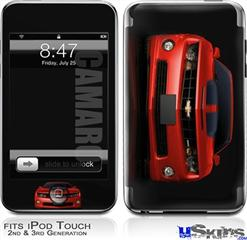 iPod Touch 2G & 3G Skin - 2010 Chevy Camaro Victory Red - Black Stripes