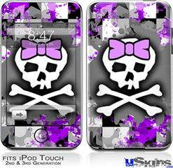 iPod Touch 2G & 3G Skin - Purple Princess Skull