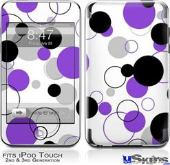 iPod Touch 2G & 3G Skin - Lots of Dots Purple on White