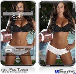 iPod Touch 2G & 3G Skin - Whitney Jene Football and Lace