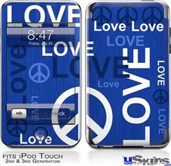 iPod Touch 2G & 3G Skin - Love and Peace Blue