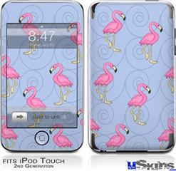 iPod Touch 2G & 3G Skin - Flamingos on Blue