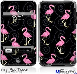 iPod Touch 2G & 3G Skin - Flamingos on Black