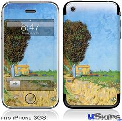 iPhone 3GS Skin - Vincent Van Gogh A Lane near Arles