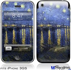iPhone 3GS Skin - Vincent Van Gogh Starry Night Over The Rhone