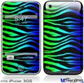 iPhone 3GS Skin - Rainbow Zebra