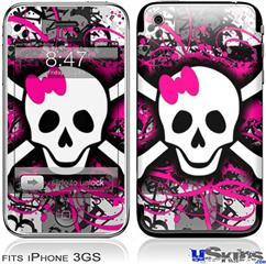 iPhone 3GS Skin - Splatter Girly Skull