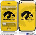 iPhone 3GS Skin - Iowa Hawkeyes Herkey Black on Gold