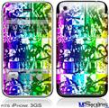 iPhone 3GS Skin - Rainbow Graffiti