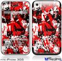 iPhone 3GS Skin - Red Graffiti