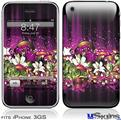 iPhone 3GS Skin - Grungy Flower Bouquet