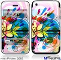iPhone 3GS Skin - Floral Splash