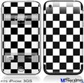 iPhone 3GS Skin - Checkers White